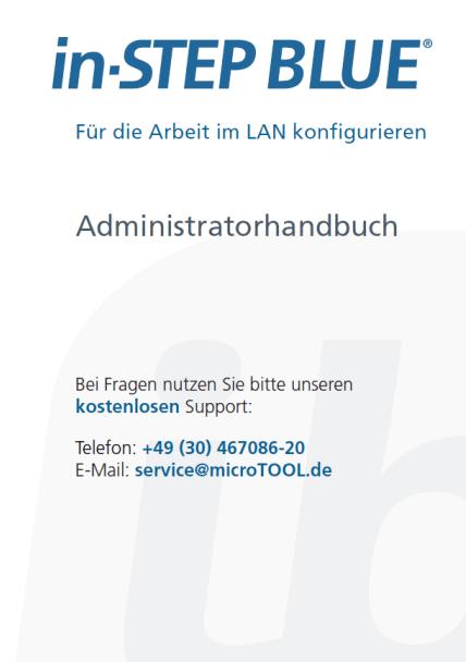 in-STEP BLUE Administratorhandbuch