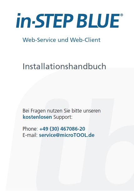 in-STEP BLUE Web-Client und Web-Service Installationshandbuch