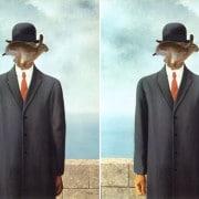 Finde 4 Fehler bei Magritte