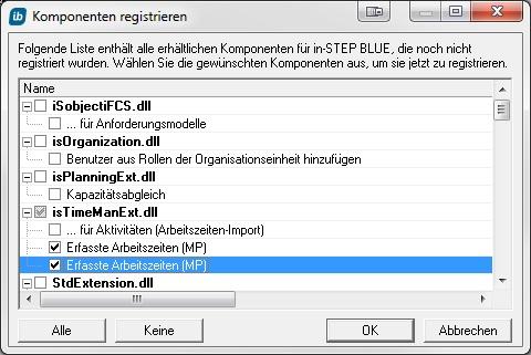 Komponente registrieren