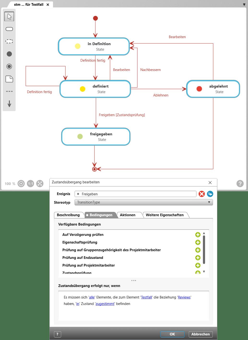 Zustandsautomaten in objectiF RM