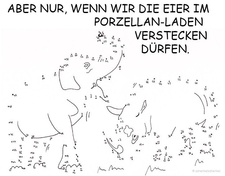 Schenkel-Hase-Elefant-Nashorn