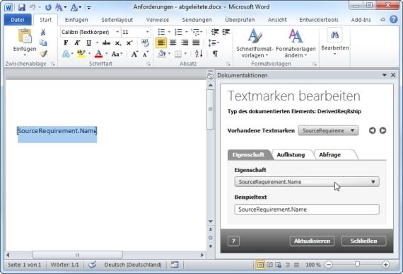 Erzeugen einer Dokumentvorlage mit objectiF RM und MS Word