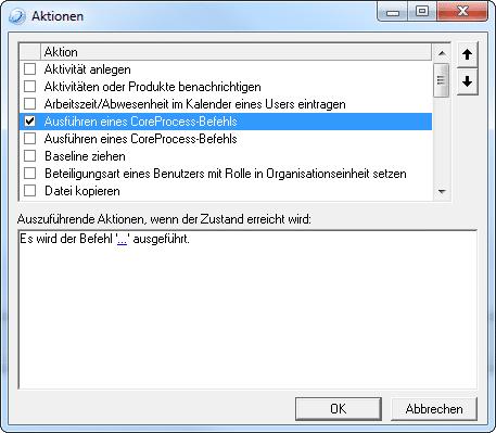 Aktionen in Zustandsautomaten definieren in in-STEP