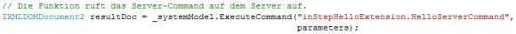 Aufruf Server-Command