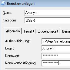 Benutzer anlegen