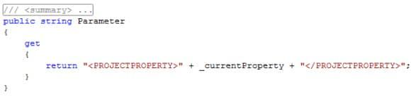 Property Parameter