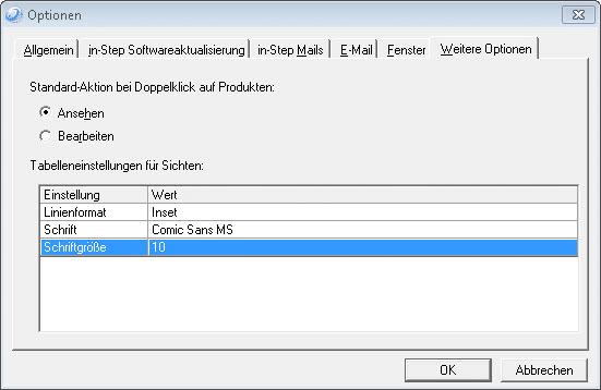 Schriftart und Schriftgröße anpassen