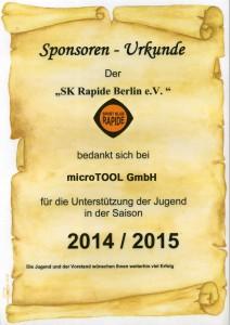 Urkunde SK Rapide
