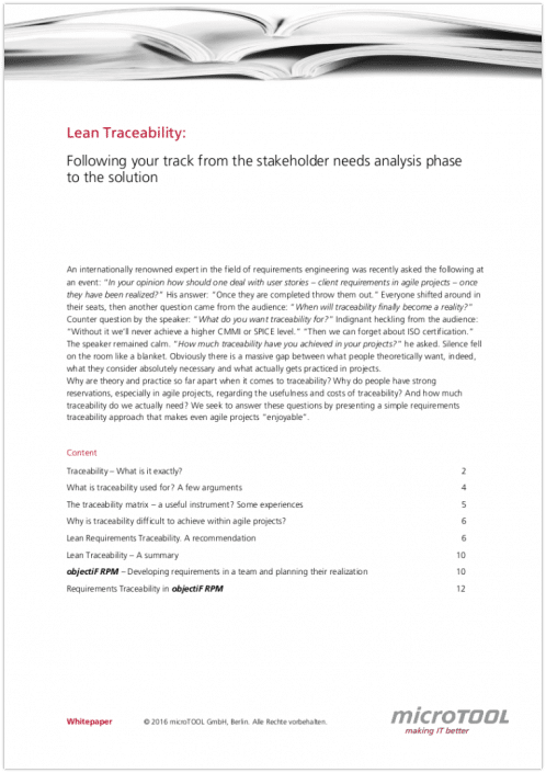 Lean Traceability Whitepaper