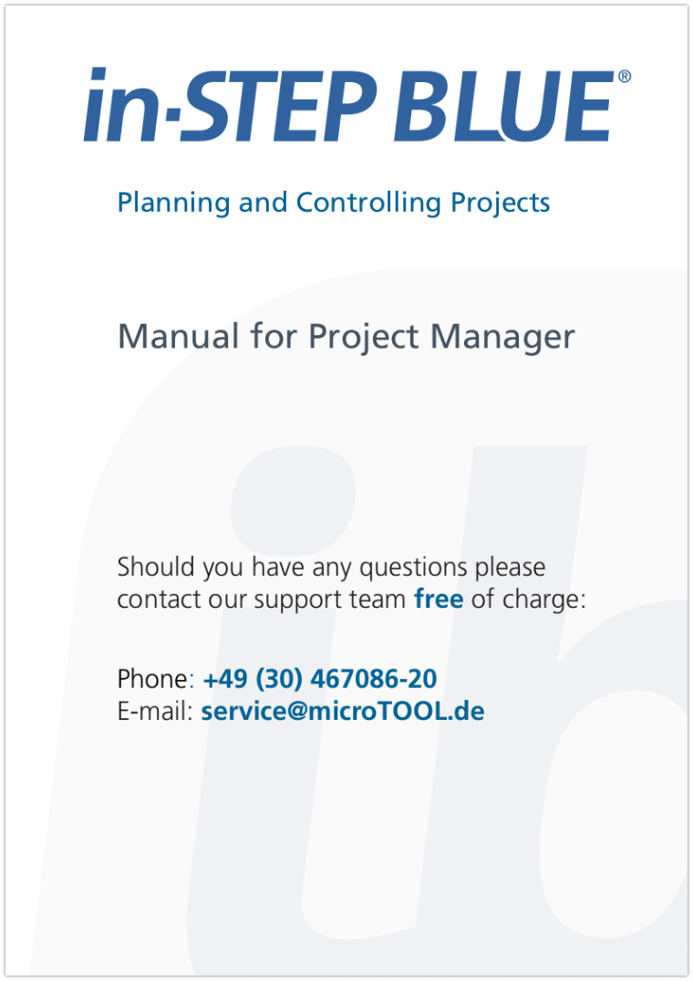 in-STEP BLUE Manual for Project Manager