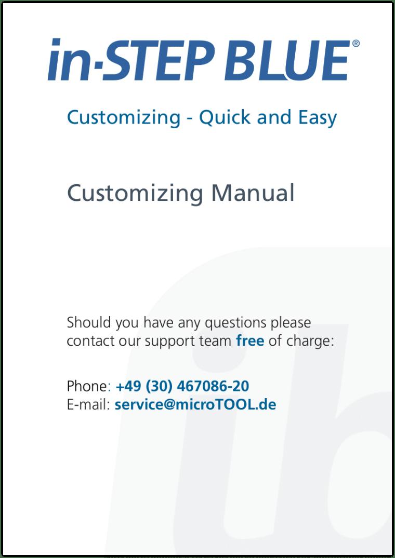 in-STEP BLUE Customizing Manual