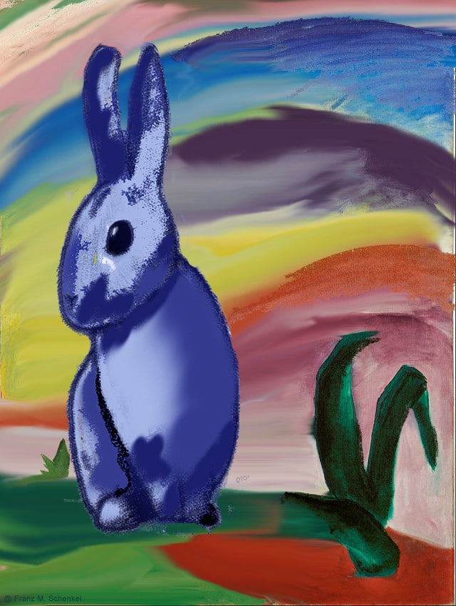 ... surreal excursion into art history and a homage to the Easter bunny