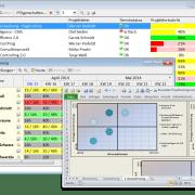 Auswertung der Mitarbeiterauslastung in der Ressourcenmanagement Software in-STEP BLUE