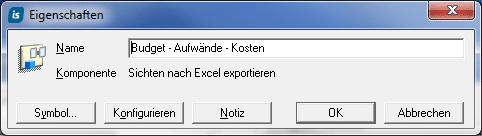 Eigenschaften des Multi-Excel-Reporters editieren