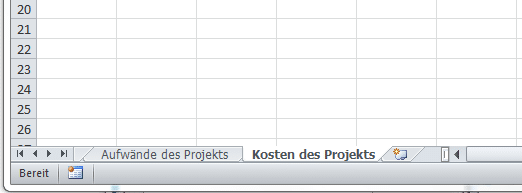 MS Excel mit Tabellenblättern