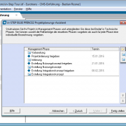 Projektplanung mit PRINCE2 in in-STEP BLUE