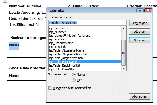 Textmarke mit der entsprechenden Namenskonvention anlegen