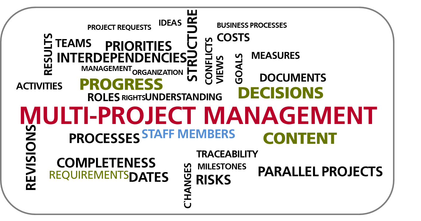 Advantages for your multi-project management using in-STEP BLUE