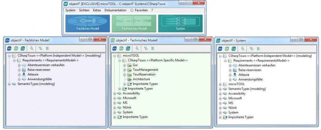 Vom fachlichen zum technischen Modell mit objectiF 7.2