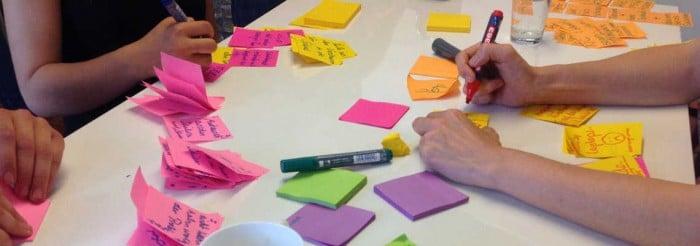 Braindumping Session: Jeder schreibt seine Ideen auf