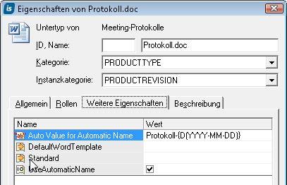 Ein Protokoll mit Datum automatisch anlegen