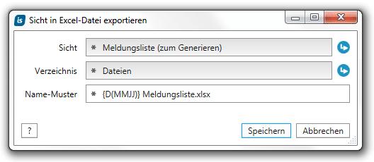 Eine Sicht regelmässig nach MS Excel exportieren