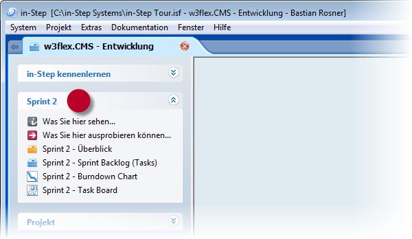in-STEP BLUE Sprint 2 Toolbar