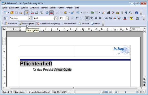 Die Konfiguationsmanagement-Funktionen in OpenOffice