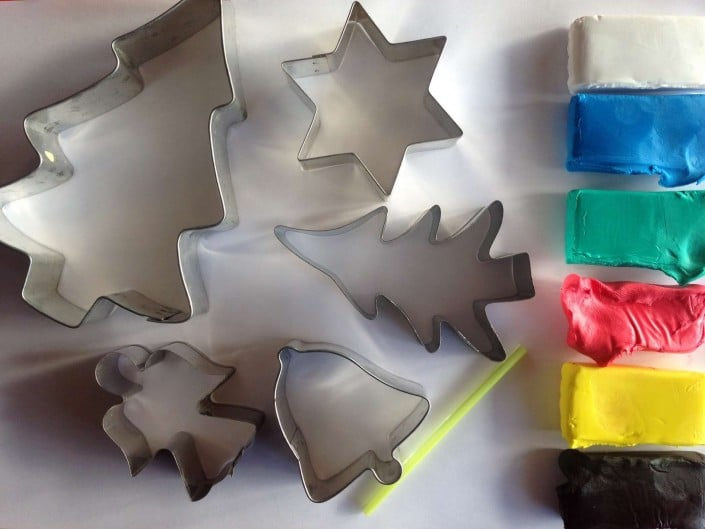 cookie cutters ready to make decoration