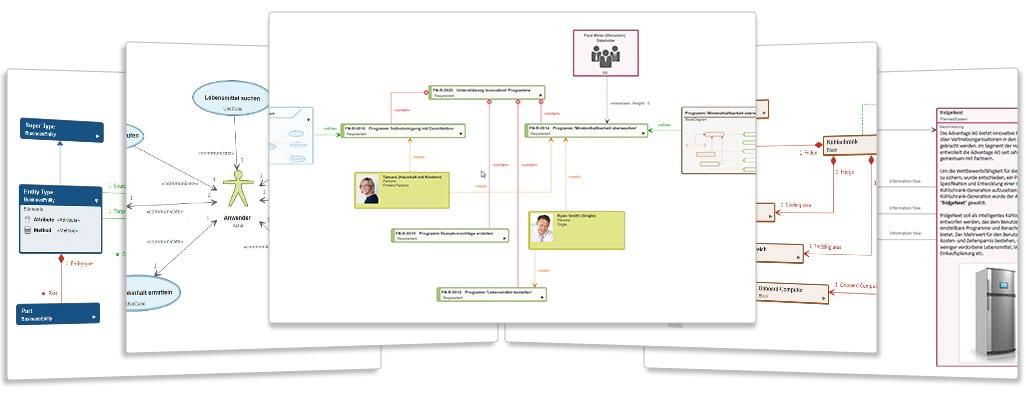 Arbeiten mit Diagrammen in objectiF RM