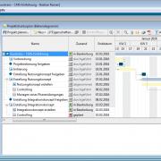 in-STEP BLUE PRINCE2 - Projektstrukturplan als Ganttchart