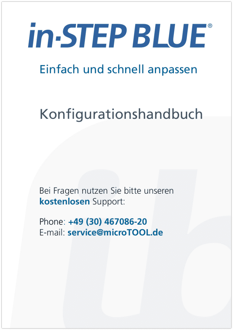 in-STEP BLUE Konfigurationshandbuch (DE)