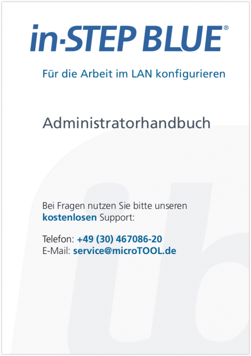 in-STEP BLUE Administratorhandbuch (DE)