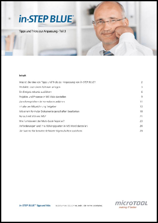 in-STEP BLUE Tipps und Tricks (Teil 3, DE)