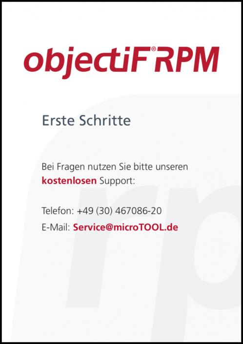 objectiF RPM - Erste Schritte (DE)