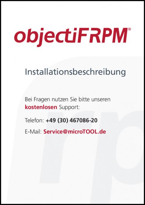 objectiF RPM - Installationshandbuch (DE)