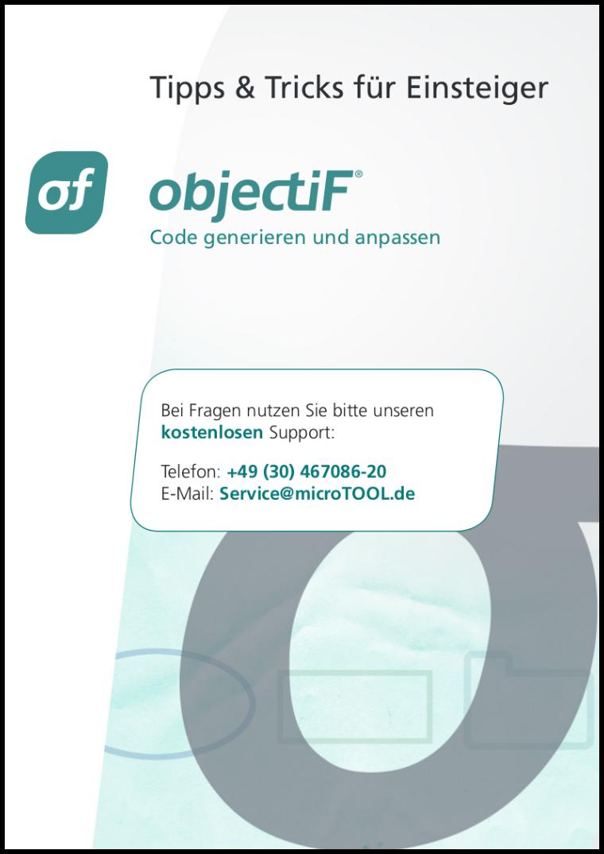 objectiF - Tipps und Tricks für Einsteiger