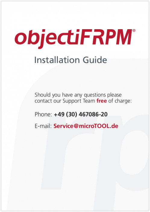 objectiF RPM Installation Guide
