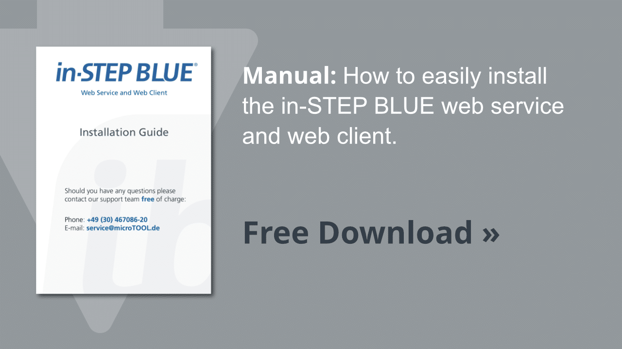 in-STEP BLUE web client installation guide