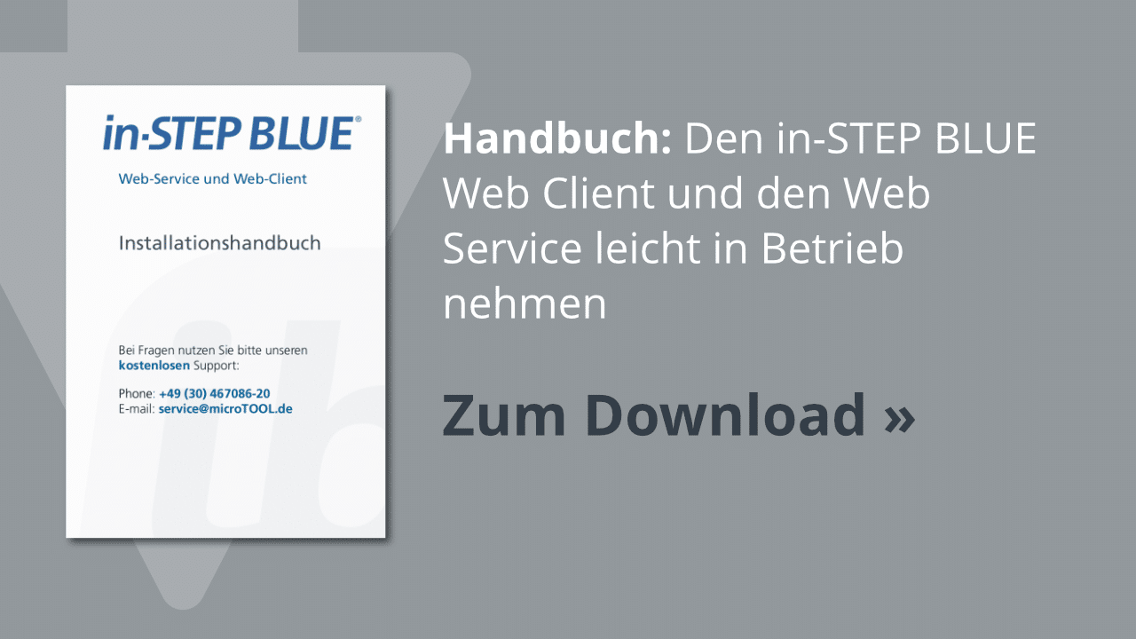 Download: Das in-STEP BLUE Installationshandbuch