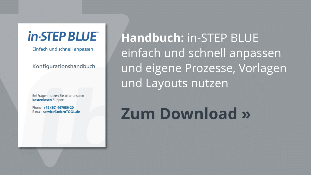 Download: Das in-STEP BLUE Konfigurationshandbuch