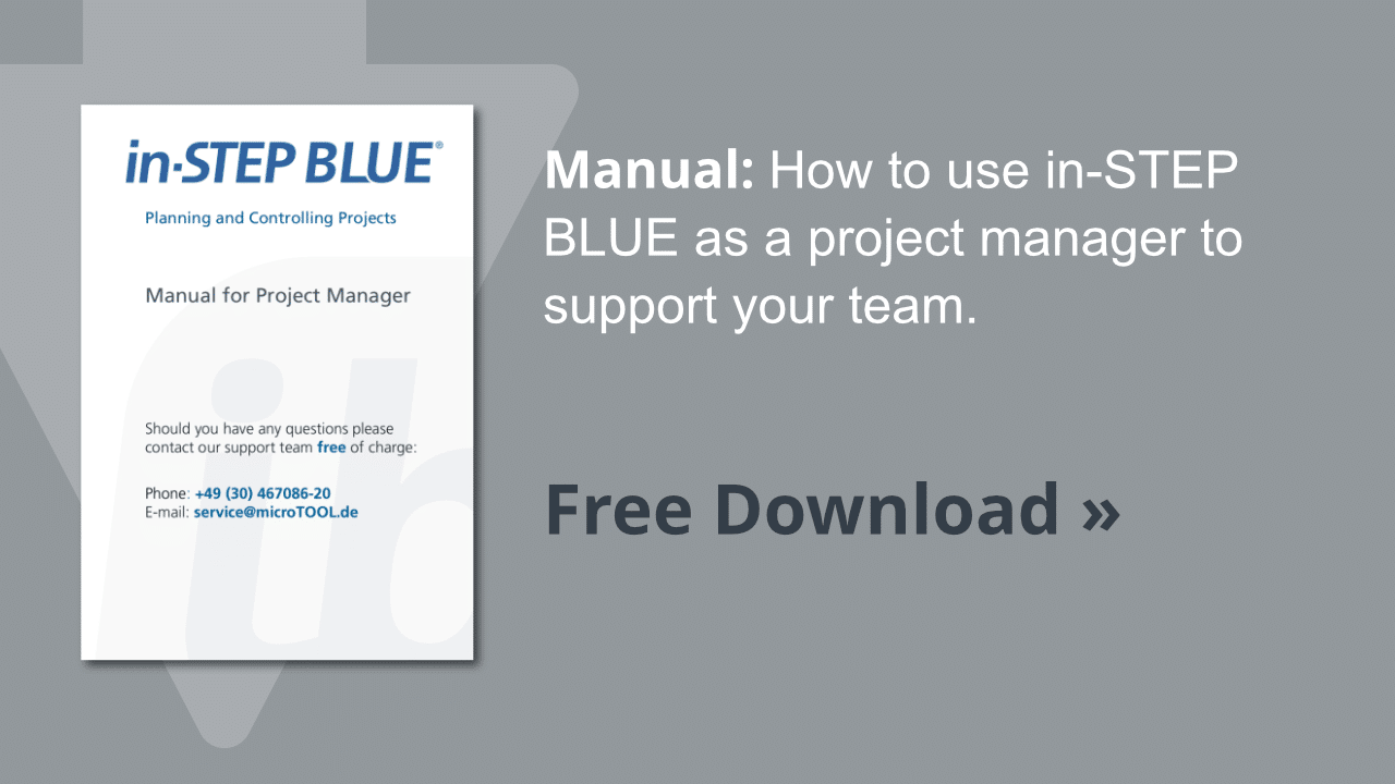 Manual in-STEP BLUE for project managers