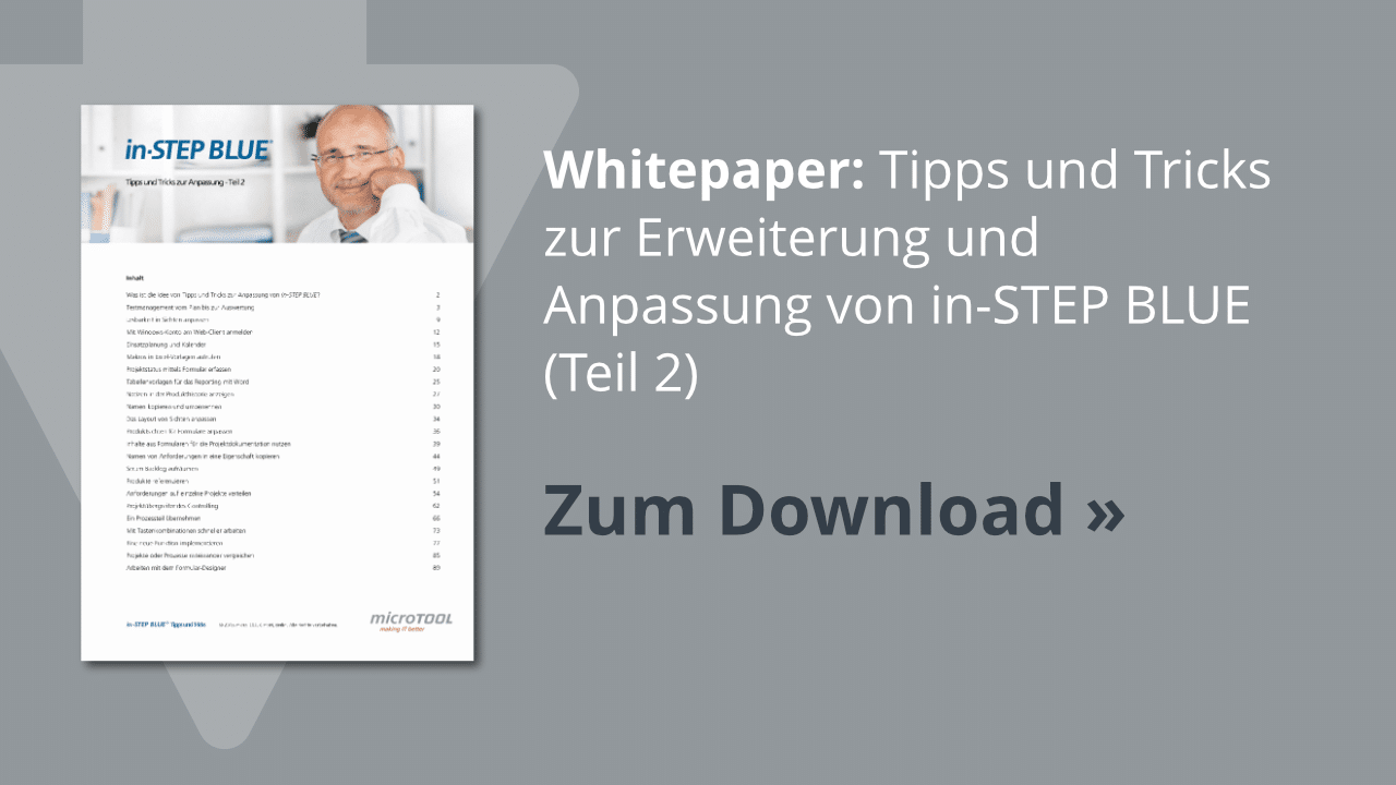 Download: in-STEP BLUE Tipps & Tricks (Teil 2)