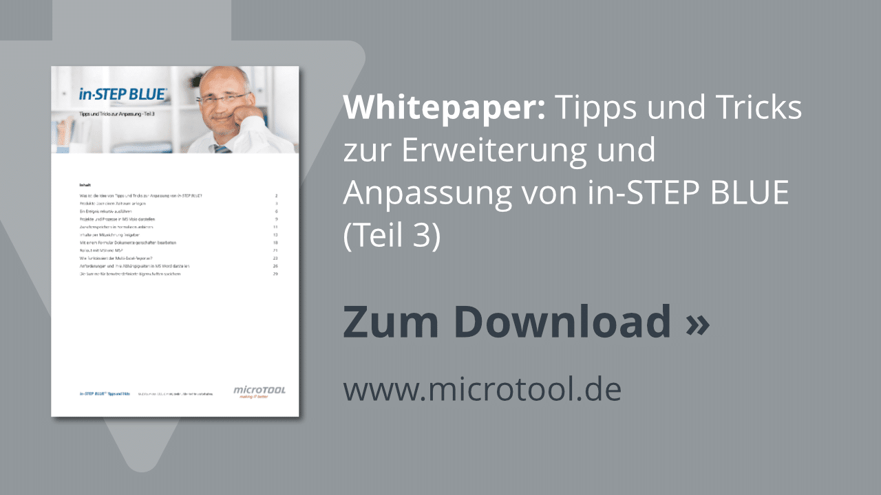 Download: in-STEP BLUE Tipps & Tricks (Teil 3, Share)