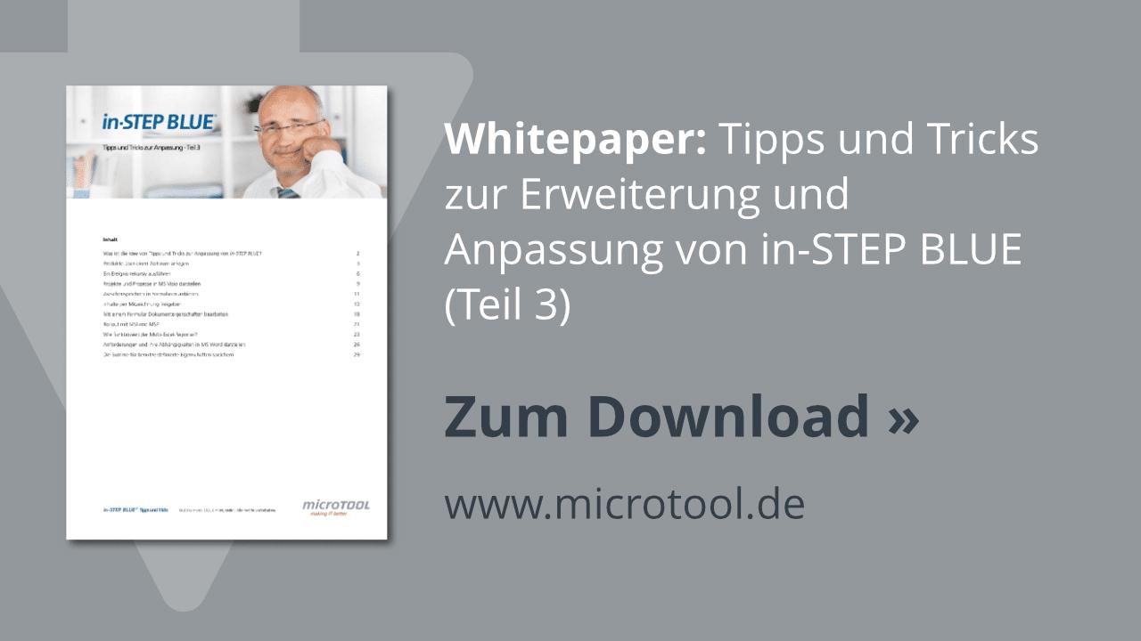 Download: in-STEP BLUE Tipps & Tricks (Teil 3, Share)
