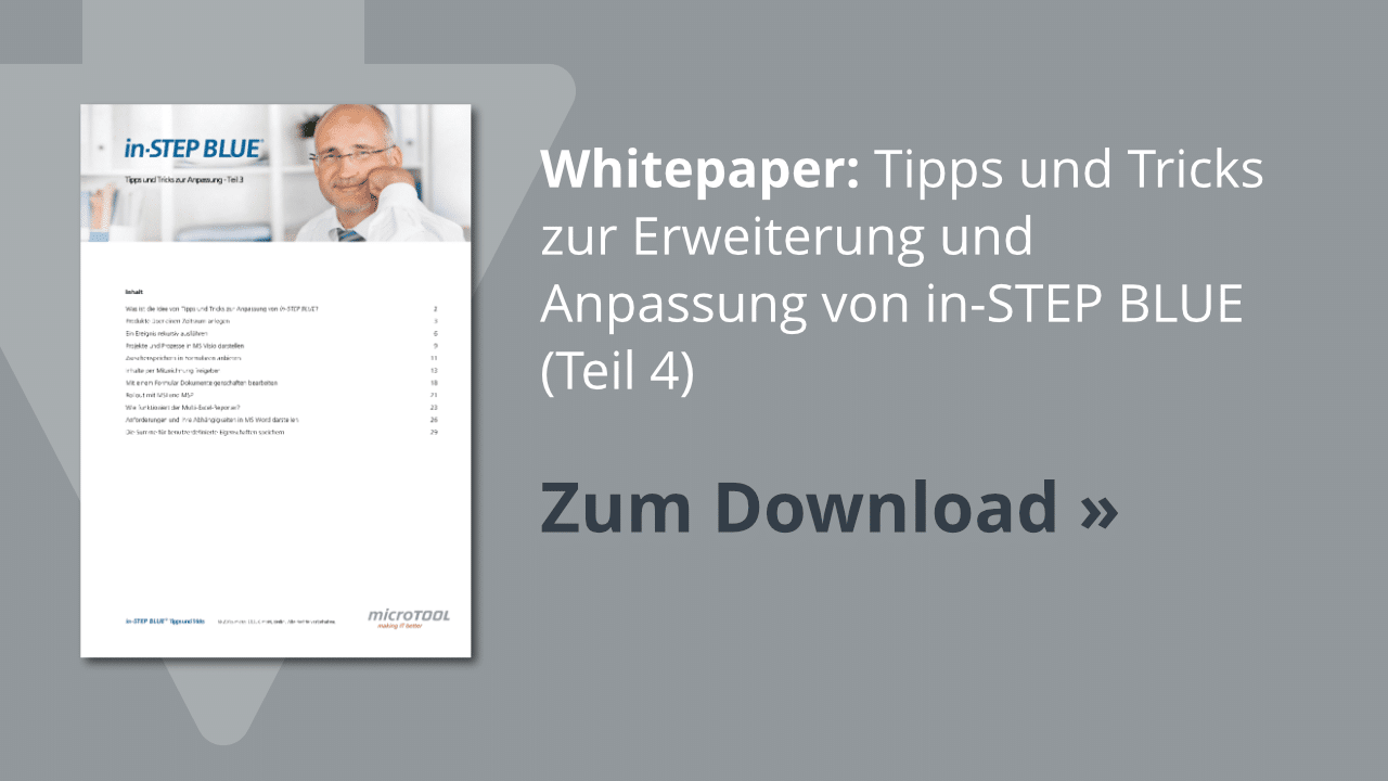Download: in-STEP BLUE Tipps & Tricks (Teil 4)