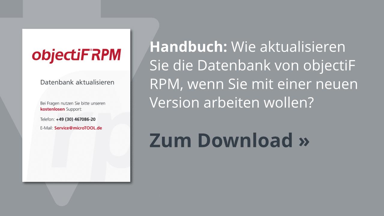 Download: Aktualisieren der objectiF RPM Datenbank