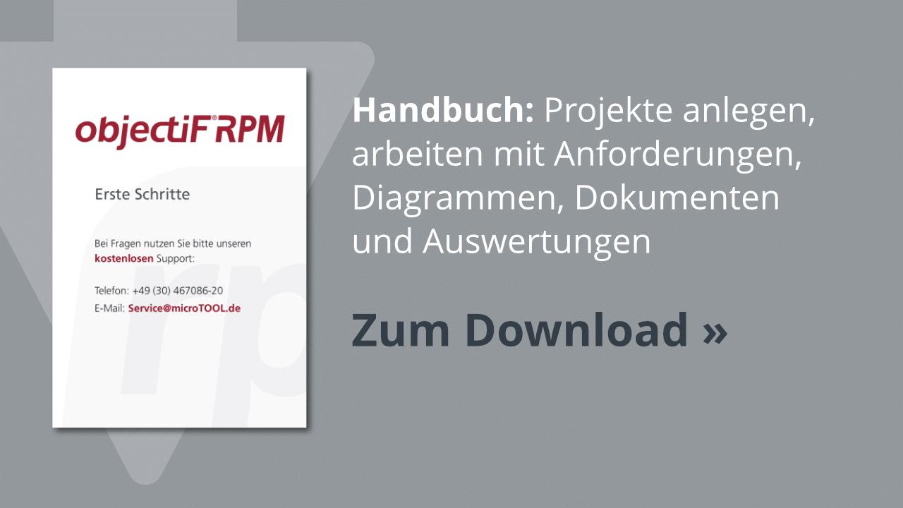 Download: Erste Schritte mit objectiF RPM