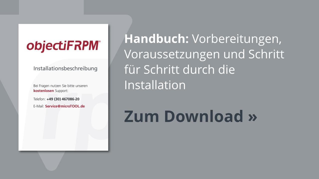 Download: Installationsbeschreibung zu objectiF RPM